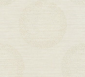 Vliestapete AS Creation Titanium 2 8-36005-1, 360051 hell-beige Kreise