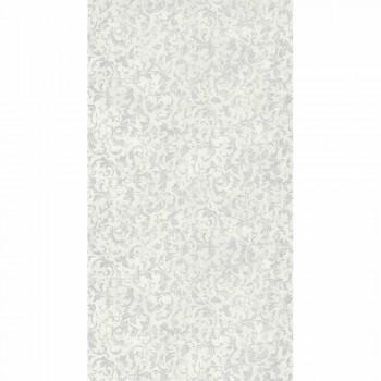 36-PALA83570115 Texdecor Casadeco - Palazzo Ornamente Cremeweiß silber