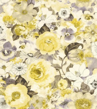 Rasch Lucy in the Sky 7-803532 Vliestapete gelb Blumen