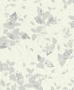 Weiß Glitzer Blumen Vlies-Tapete Wohnzimmer