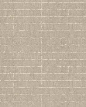 Siroc Eijffinger 55-376074 Vlies-Tapete Blockmuster gewebt sand-grau