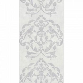 36-PALA83610122 Texdecor Casadeco - Palazzo Ornamente silber weiß Vinyltapete