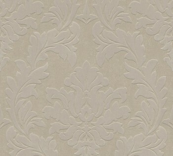 AS Creation Castello 33580-3, 335803 Ornamente groß warm-grau Velour Tapete