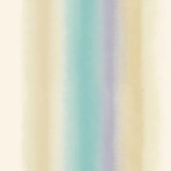 Grandeco Origine 37-OR4003 Vliestapete Streifen Verlauf türkis-lila