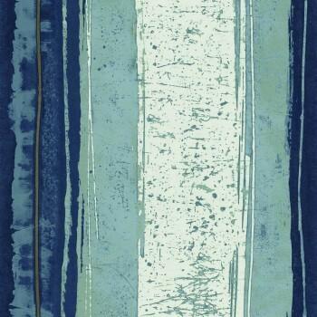 Tapete Abstrakt Streifen blau 48-74040239 Casamance - Estampe