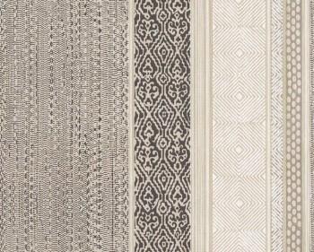 Siroc Eijffinger 55-376022 braun beige Streifen Muster Vlies Tapete
