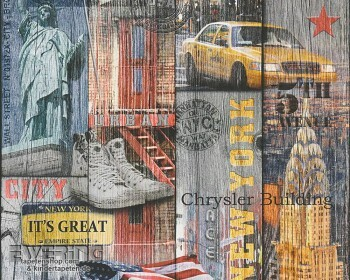 AS Creation Authentic Walls 8-30170-1, 301701 bunt New York Tapete