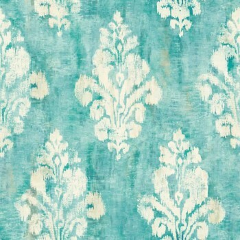 37-OR2004 Grandeco Origine meer-blau Vlies Tapete Ornamente matt