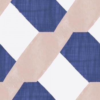 Blau Rosa Vlies Muster Wandbild Tenue de Ville SPICE 62-SPID230633