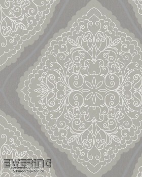 Marburg Zuhause Wohnen 4 6-57101 Tapete Rauten Muster taupe-grau