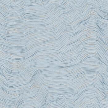 Blau Kupfer Wellenoptik Tapete 62-SAU210303 Tenue de Ville SAUDADE