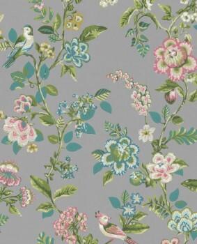 Eijffinger PIP Studio 55-375065, Vliestapete grau Blumen