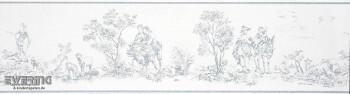 Casadeco - Chantilly 36-CHT22936126 Toile de Jouy Borte hell-blau
