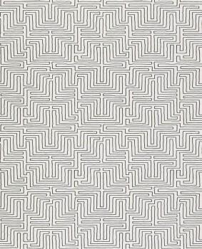 Siroc Eijffinger 55-376059 creme-weiß schwarz Vliestapete Labyrinth