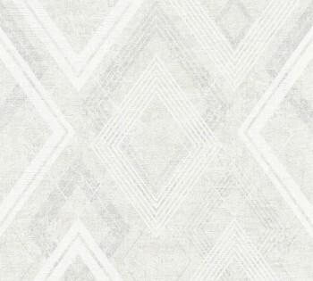 Vliestapete AS Creation Titanium 2 8-36000-3, 360003 creme-weiß Rauten
