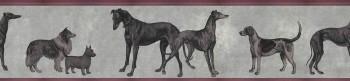 Muster-Tapete Hunde Grau Rot Tenue de Ville ODE 62-ODED191911