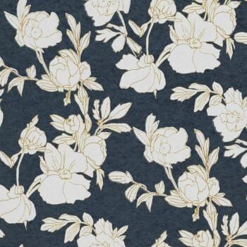 Dunkelblau Tapete Blumen Beige Tenue de Ville SPICE 62-SPI230230
