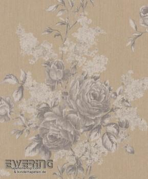 23-077550 Cassata Rasch Textil Blumenranken beige Textil-Tapete