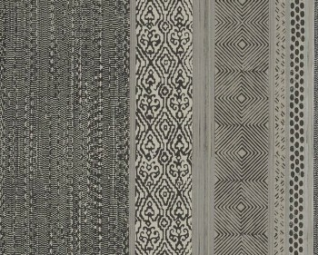 55-376023 Eijffinger Siroc grau-schwarz Muster Streifen Vlies Tapete