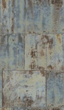 Factory 3 Rasch 7-939712 Metall-Wand grau-blau Vliestapete