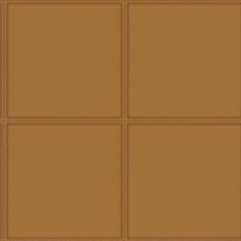 Tapete Vlies Braun Quadrat Polsteroptik Rasch Club 419016