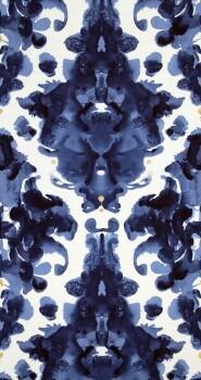 Neo Royal 12-218654 BN/Voca delphin-blau Muster-Tapete verlaufen