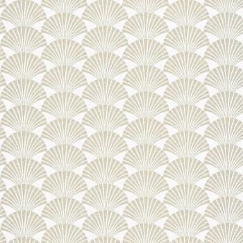 Texdecor Caselio - Scarlett 36-SRL100490020 Muscheln gold Vliestapete weiß