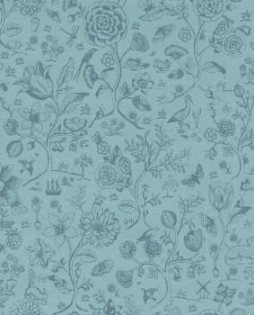 Eijffinger PIP Studio 55-375012, Vliestapete blau Blumen