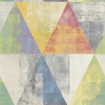 Hyde Park Rasch 7-410914 Dreieck Muster-Tapete bunt Wohnzimmer