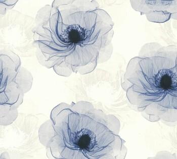 Vlies-Tapete AS Creation X-Ray 34274-1, 342741 Blüten hell-blau
