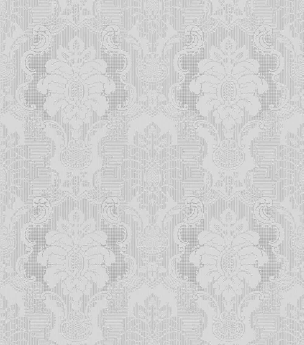 7 802443 Ylvie Rasch Tapete Ornamente Hell Grau Glanzend Wohnzimmer Ylvie Rasch Marken Tapetenshop Com