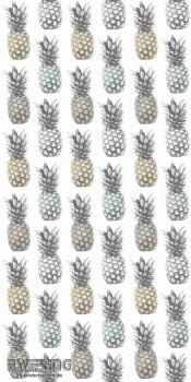 23-058606 Cabana Rasch Textil creme-weiß Ananas Wandbild Flur