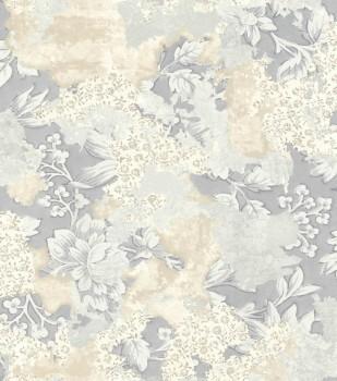 Rasch Ylvie 7-802559 Vlies-Tapete Putzoptik blau Blumenmuster