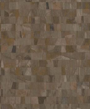 23-229379 Rasch Textil Abaca Mustertapete Vlies kariert erdbraun