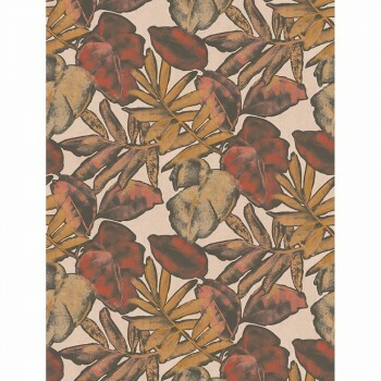 Wandbild Casadeco - Natura 36-NTRA83928361 Blätter rot orange ecodeco
