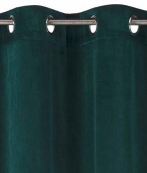 45-199005 Rasch home Fertigdeko Ösen Samt smaragd blickdicht