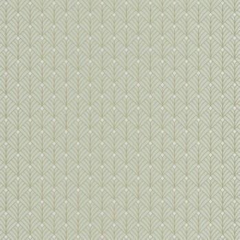 Caselio - Scarlett 36-SRL100437070 Texdecor Mustertapete Fjordgrün gold Vlies