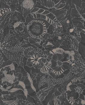 Eijffinger Enso 55-386511 Blumenmuster Vliestapete schwarz