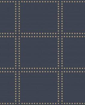Gravity Rasch Textil 23-022644 Tapete kariert dunkelblau Punkte