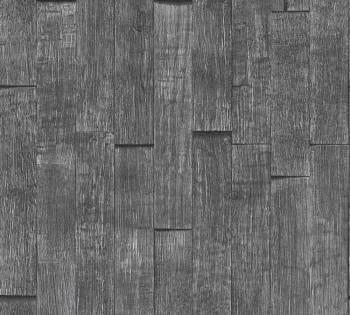 Vliestapete AS Creation Best of Wood'n Stone 35584-1 dunkel-grau Holzlatten