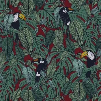 Tapete grün rot tropisch 48-73950337 Casamance - Portfolio