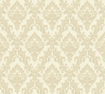 AS Creation Castello 33582-2, 335822 creme kleine Ornamente Velour-Tapete