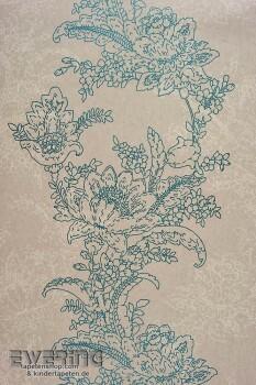 36-INF24856129 Casadeco Infinity hell-grau Vliestapete Blumenranke