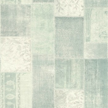 23-148650 Boho Chic Rasch Textil Vliestapete fjordgrün kariert