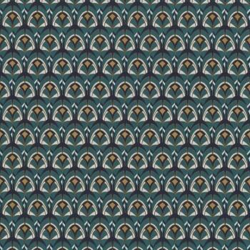 Tapete Muscheln grün grafisch Casamance - Portfolio 48-74000492