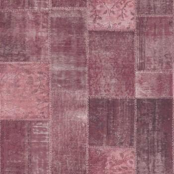 23-148653 Boho Chic Rasch Textil Vliestapete kariert aubergine