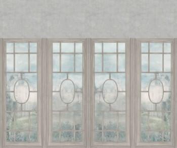 Beige Wandbild Fensterfront Natur 62-ODED190503 Tenue de Ville ODE
