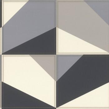 Tapete Vlies Blau Grau Beige Polsteroptik Muster Rasch Club 419207
