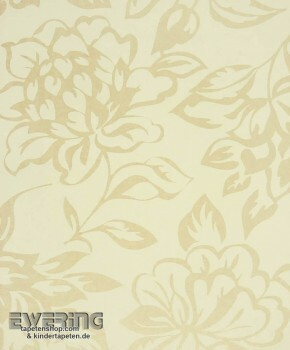 Texdecor Casadeco - Midnight 3 36-MDG17421101 creme florale Tapete