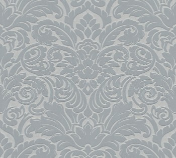 Velourtapete AS Creation Castello 33583-3 silber-grau Ornamente Verzierung